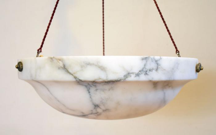 Alabaster pendant lamp