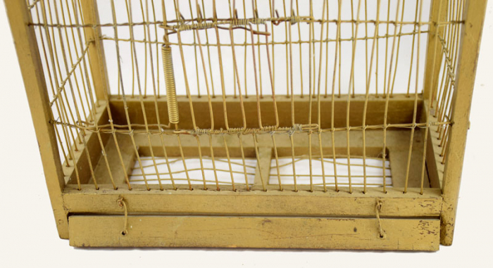 Antique wooden birdcage