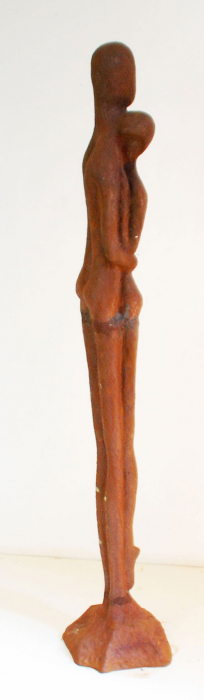 Cast iron statue: Embrace