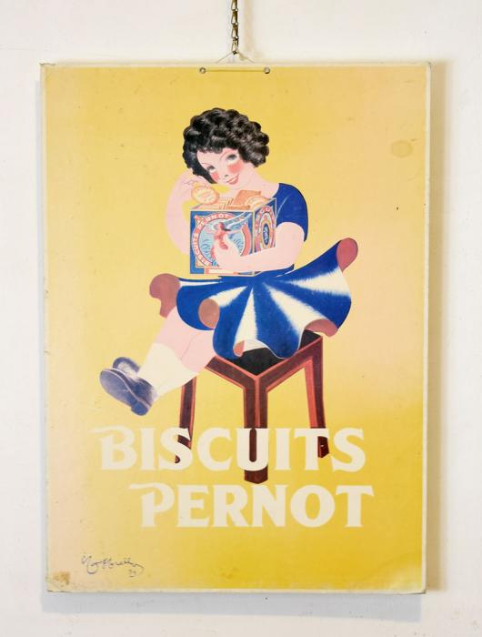 Biscuits Pernots reclameplaat c. r 20