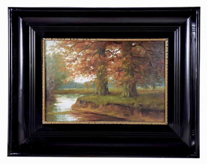 Schilderij landschap  J. Bol