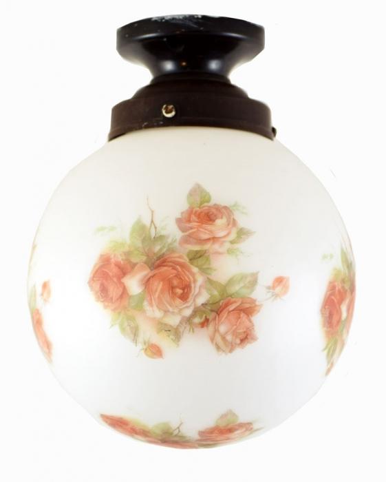 Bollamp met rozen v. p 2