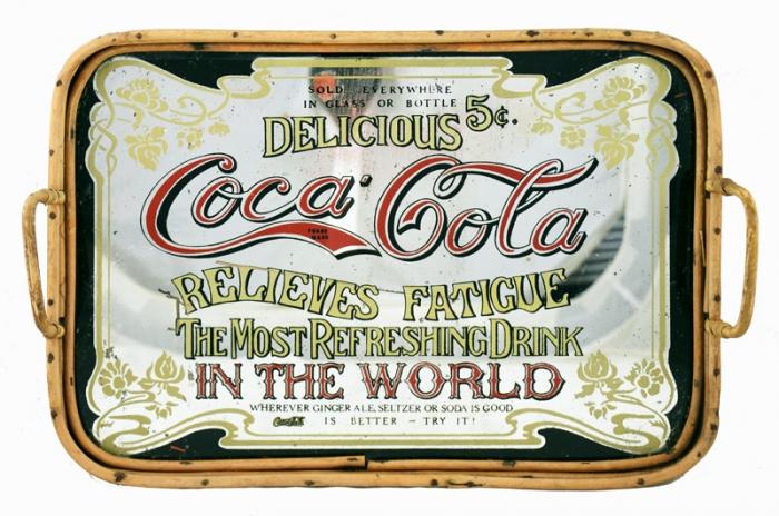 Coca Cola mirror tray