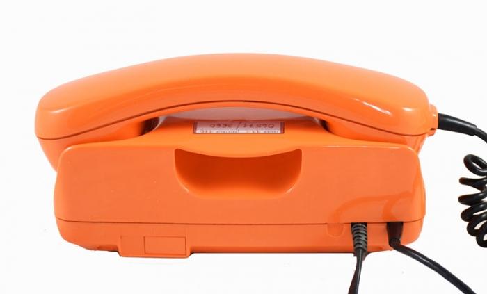 German orange seventies Post Fetap  desk telephone c. e 12