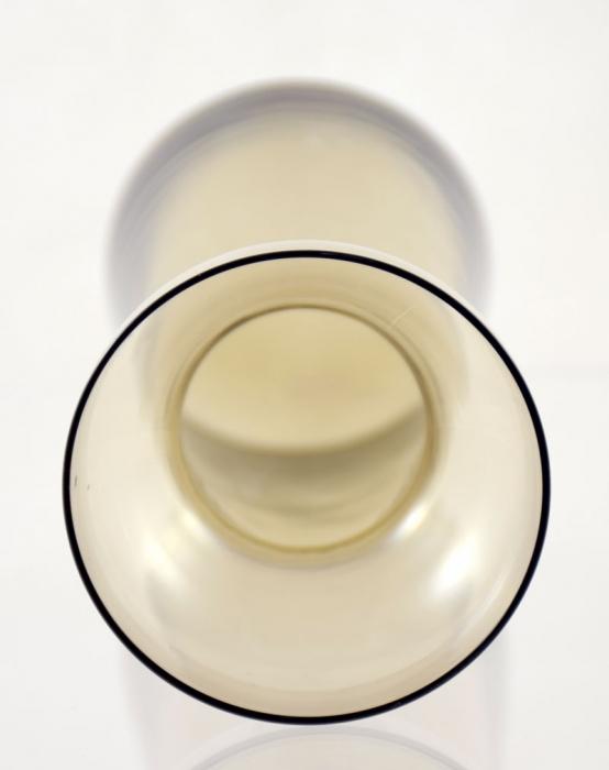 Hyacintvaas rookglas Leerdam ag. b 9