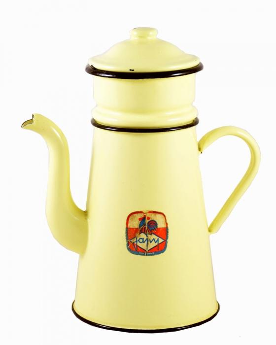 Koffiepot geel e. ok 1