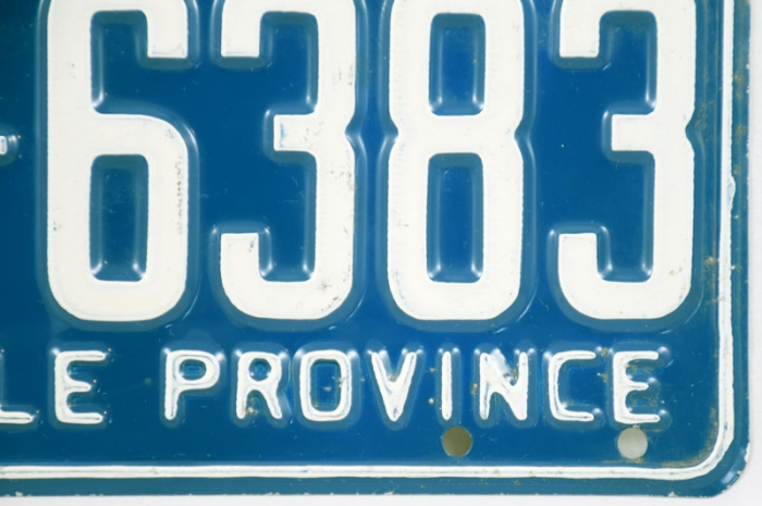 Kentekenplaat Québec  c. d 7