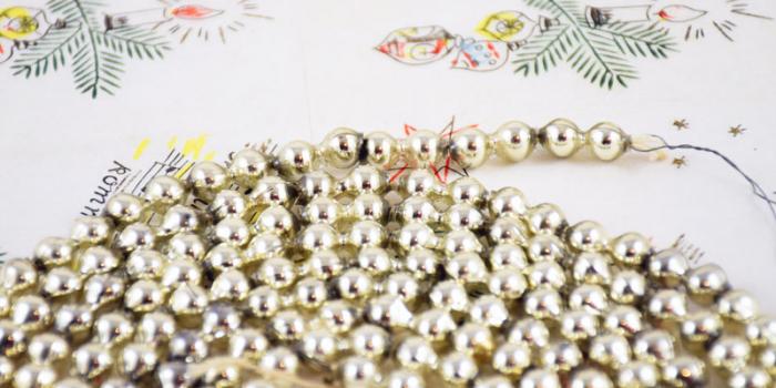 Kralenslinger zilver k. s 5