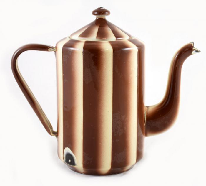Koffiepot bruin gestreept e. ok 3