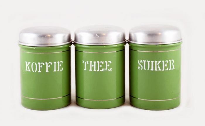 Koffie Thee Suiker bussen
