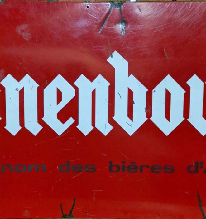 Kronenbourg beer enamel advertisement