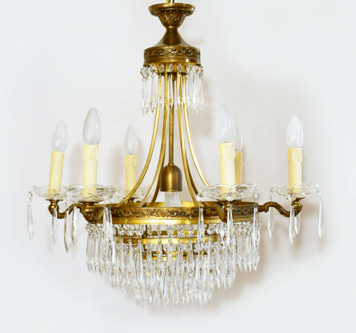 Antique crystal beaded chandelier v. kh 5