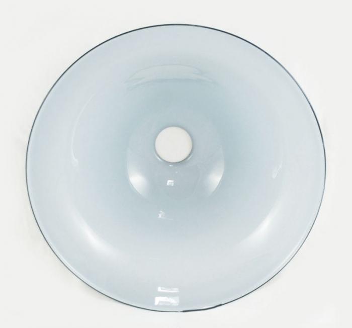Lampenkap blauw glas v. lp 1