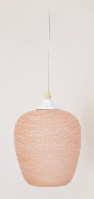 Roze retro lamp v. d 18