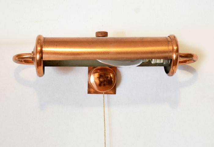 Schilderijlamp koper v. sl 11