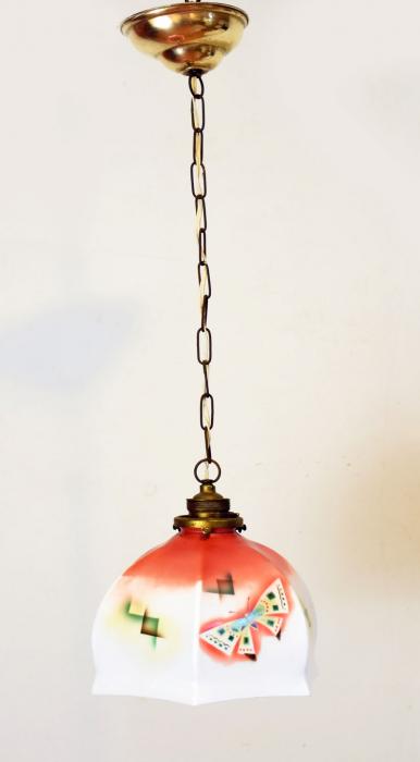 Lamp met vlinders v. d 4