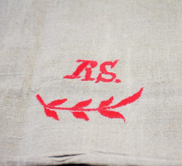 Linen mangle cloth t. hk 8