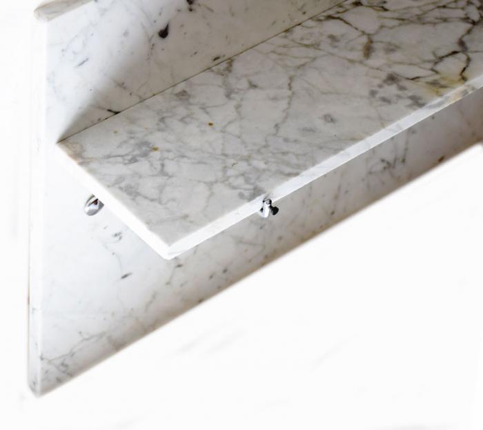 Marmeren  spatplaat met planchet b.b 9