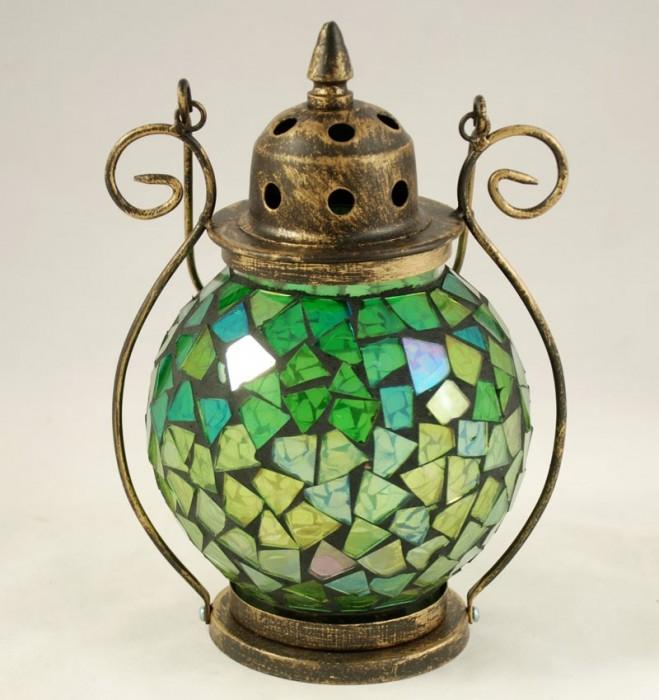 Kleine tiffany lamp groen