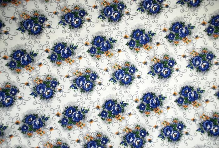 Beddenkleed blauw gebloemd 14