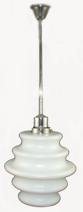 Witte design  lamp glas v. d 3