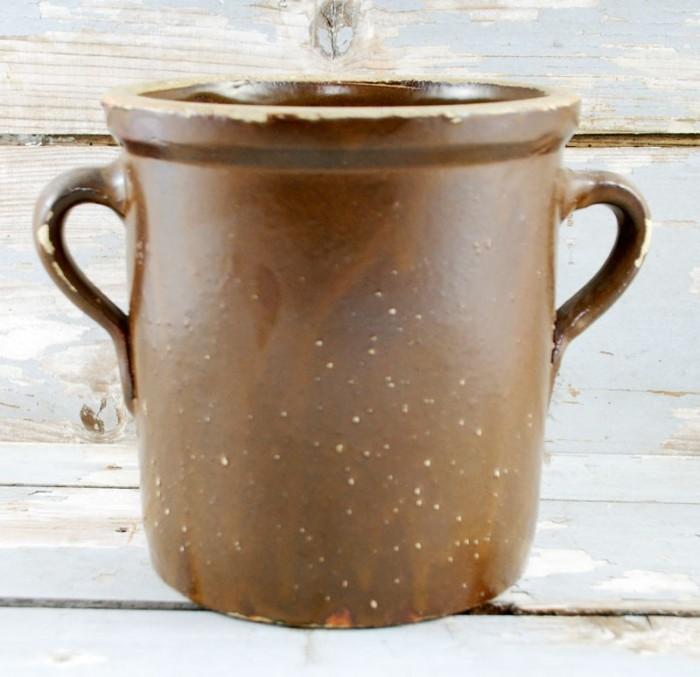 Bruine pot kk. k 4