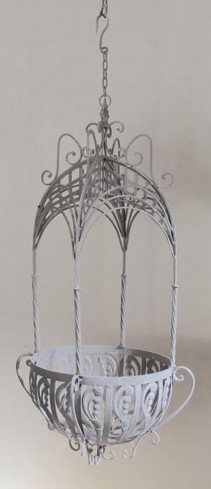 Victorian hanging basket groot wit