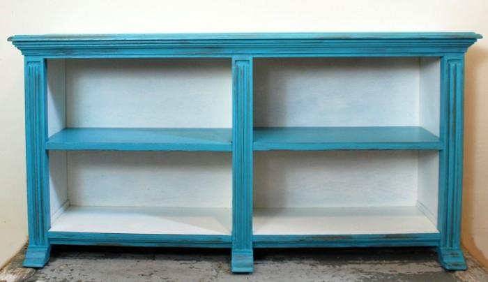 Boekenkast blauw