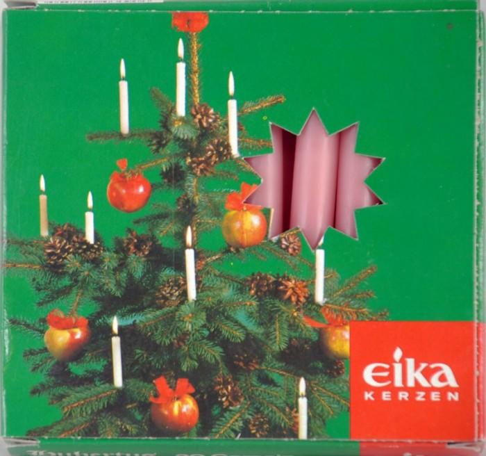 Roze kerstboomkaarsjes k. vk 5