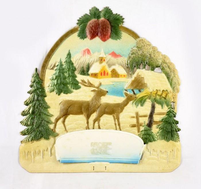 Kartonnen kerstdecoratie k. d 3