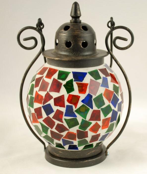 Kleine tiffany lamp rood