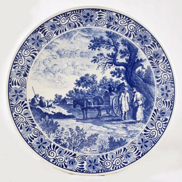 Wandbord Delfts blauw a.  pa 5