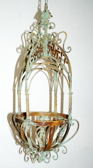 Hanging basket klein groen