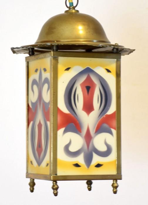 Amsterdamse School lamp v. d 10