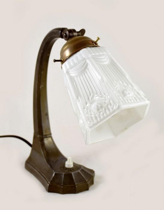 Tafellamp brons v. sl 1
