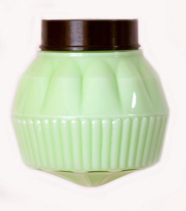 Plafonnière groen art deco
