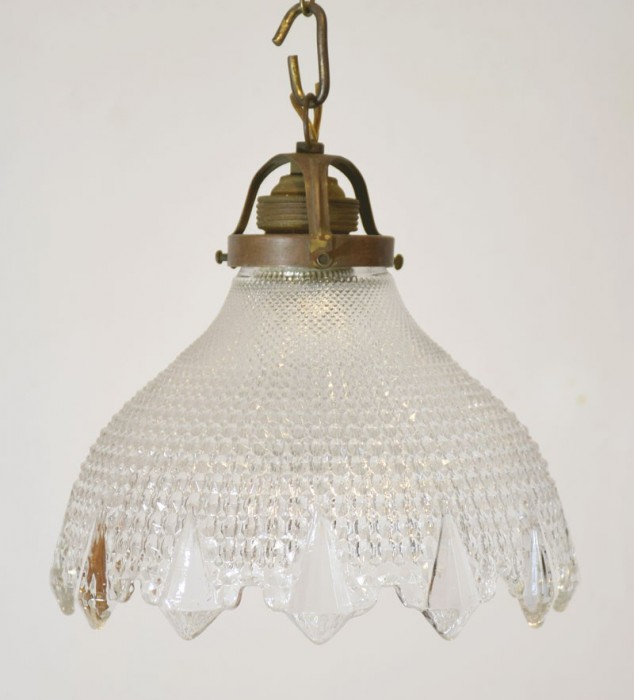 Lampje geslepen glas v. d 9