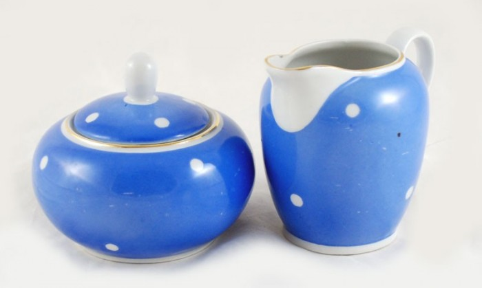 Polka dot tea set  kk. s 10