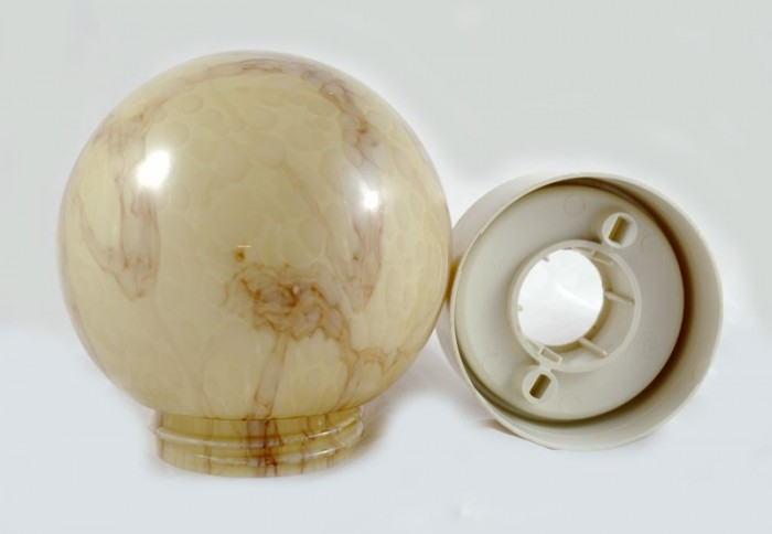 Plafondlamp marmermotief v. p 12