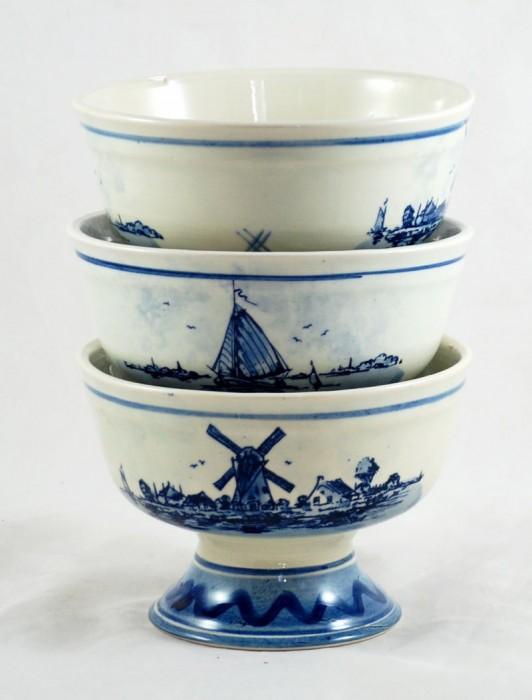 Drie kommen Delft Blue ag. k 14