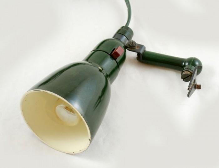 Leeslampje groen bakeliet v. sl 17