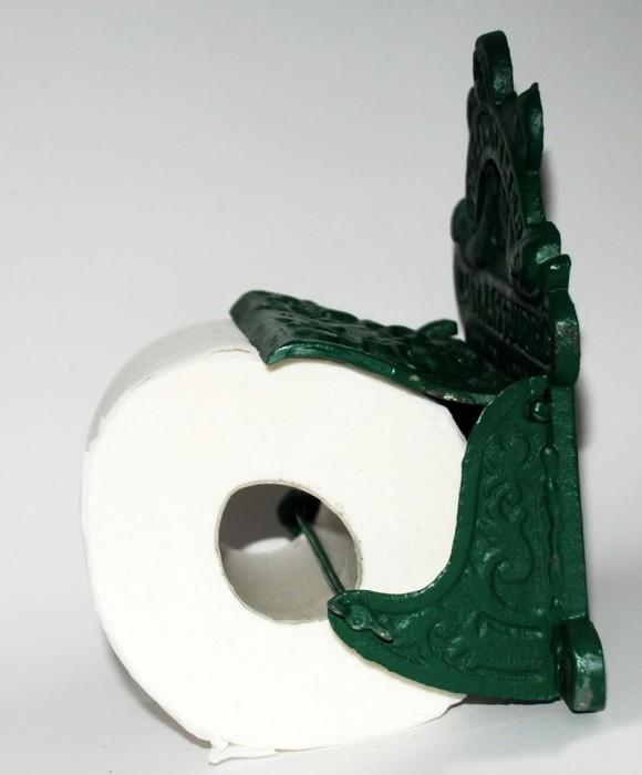 WC rolhouder gietijzer