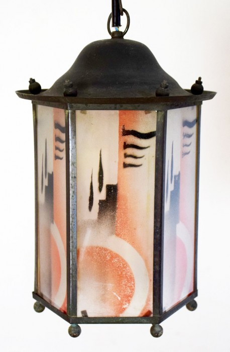 Hallamp art deco v. d 8