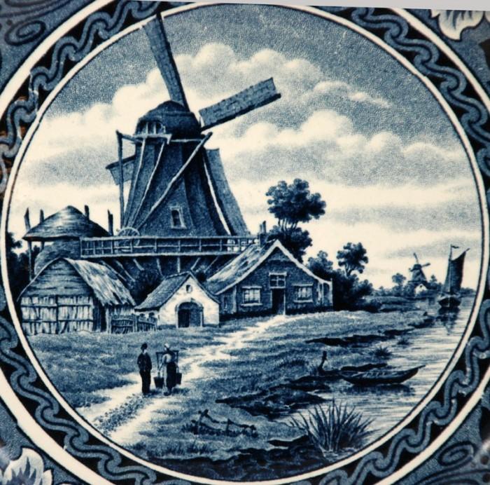 Wandbord Hollandia ag d 6