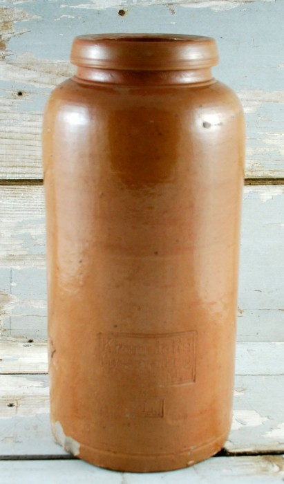 Bruine pot kk. k 6