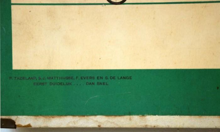 Schoolplaat Letterkaart karton nr. 13