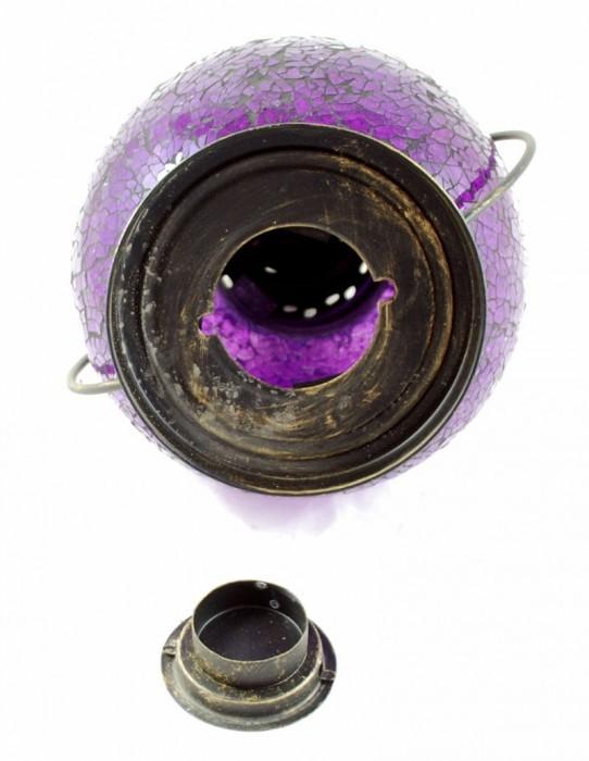 Bollamp paars groot