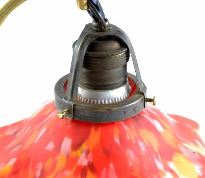 Pate de verre lamp v. d 4