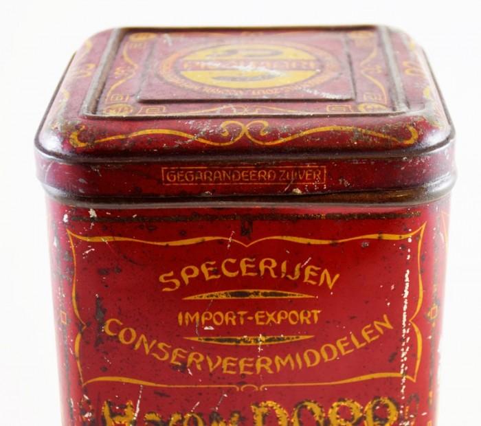 H. van Dorp Specerijen blik c. b 4