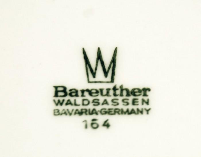 Gebaksbordjes Bareuther Wadsassen ag. s 19